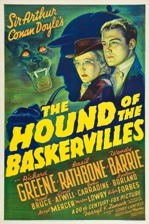 Cartaz Sherlock Holmes e o Cão dos Baskervilles