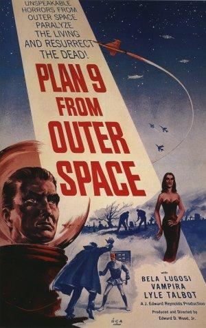 Cartaz Plano 9 - Invasão Intergaláctica