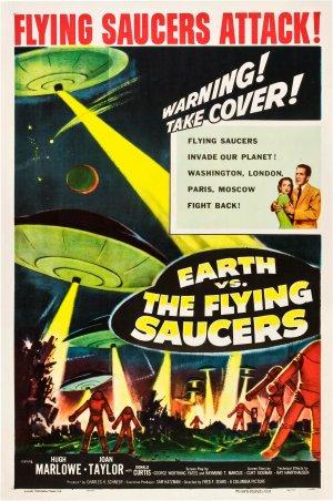 Cartaz A Invasão dos Discos Voadores