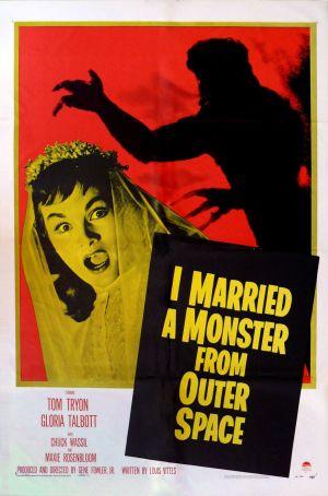 Cartaz Casei-me com um Monstro do Espaço