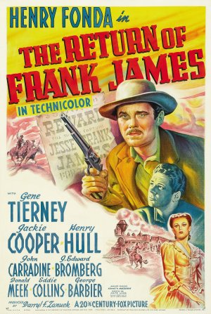 Cartaz A Volta de Frank James