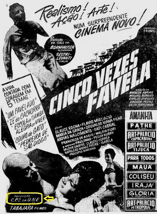 Cartaz Cinco Vezes Favela